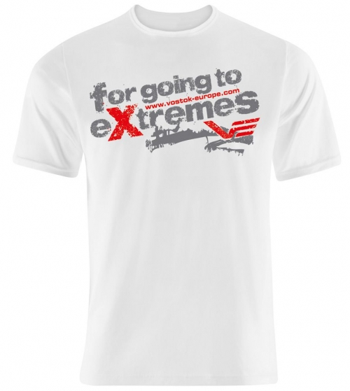 "Vostok Europe ""for going to extremes"" T-Shirt / weiß"