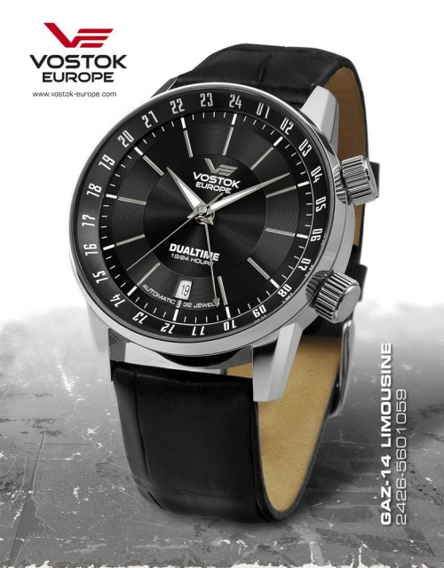 Vostok Europe GAZ 14 Automatic Dual Time 2426-5601059