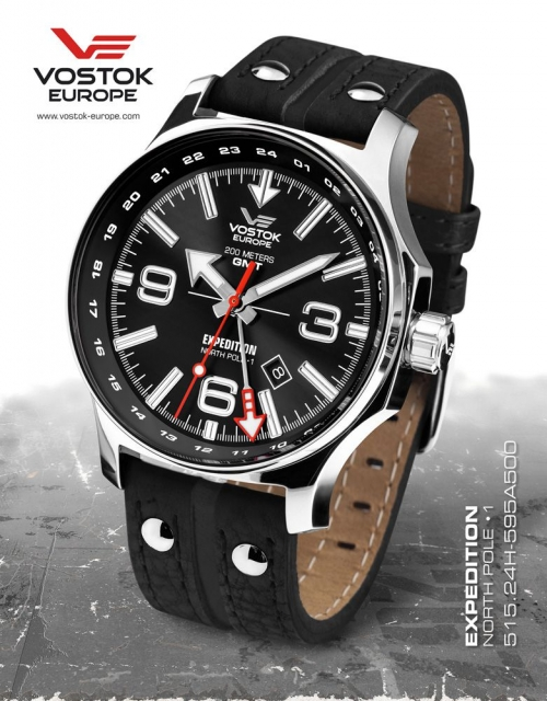 Vostok Europe Expedition North Pole 1 Dual Time 515.24H-595A500
