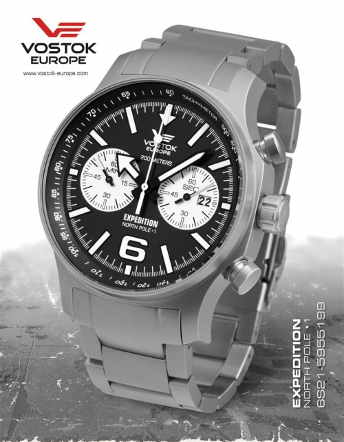 Vostok Europe Expedition North Pole 1 Chronograph 6S21-595199b