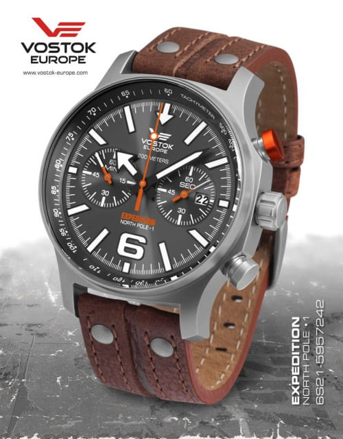 Vostok Europe Expedition North Pole 1 Titanium 6S21-5957242-S