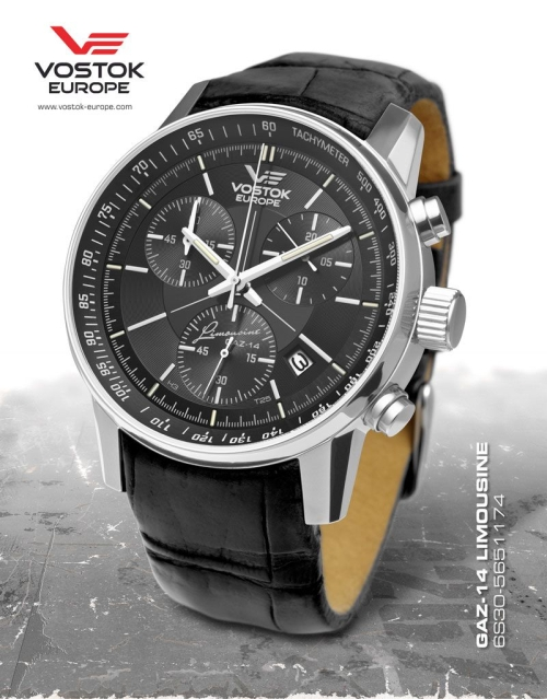 Vostok Europe GAZ 14 Grand Chrono Quartz with Trigalight 6S30-5651174