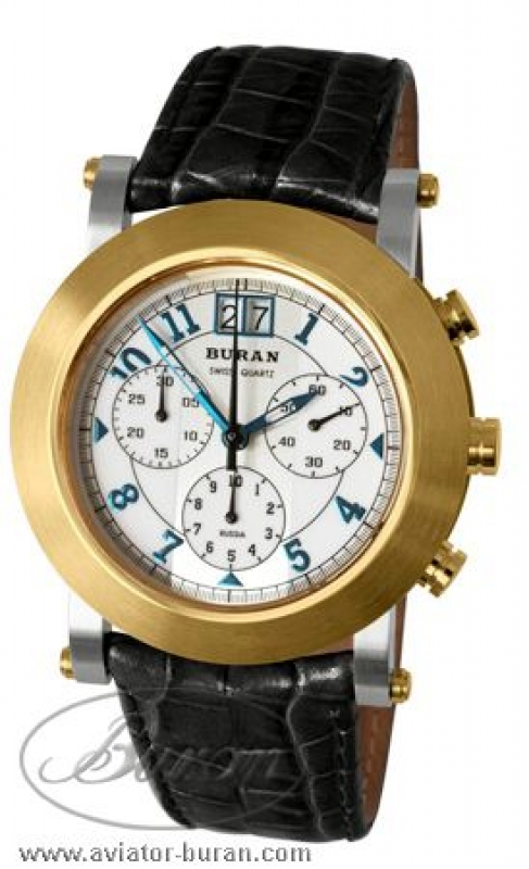 Buran Special Edition 5040b-0856417 Ladies Chronograph