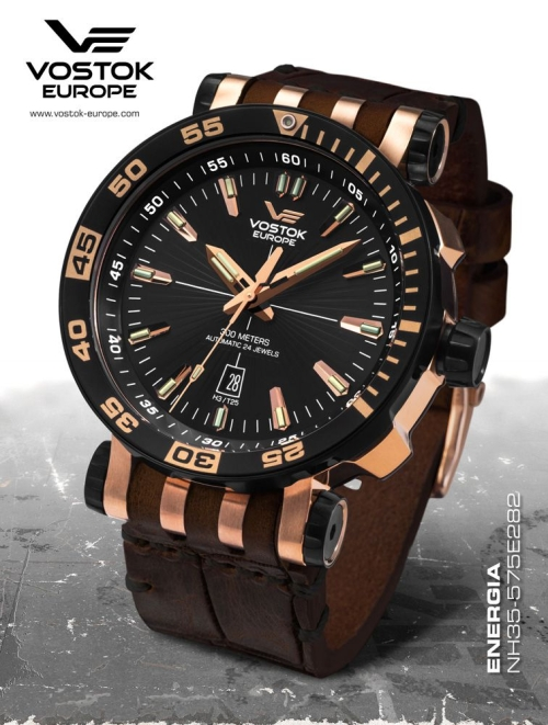 Vostok Europe Energia Rocket St. Steel Automatic NH35A-575E282