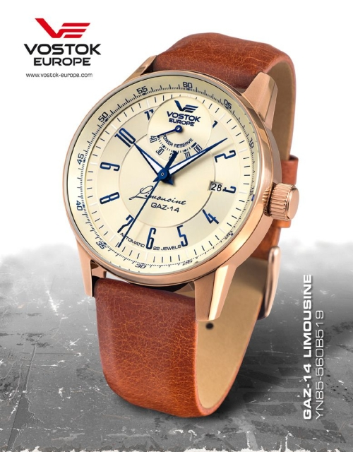 Vostok Europe GAZ 14 Automatic Power Reserve YN85-560B519