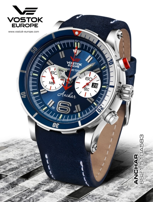 Vostok Europe Anchar Chronograph Quartz 6S21-510A583
