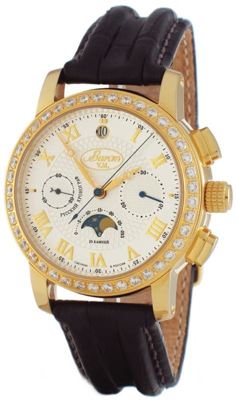 Buran Moon Phase Chronograph B 31679-2416182S