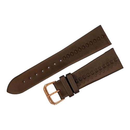 Buran leather strap / 24 mm / brown / rose buckle