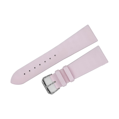 Buran satin leather strap / 23 mm / pink / polished buckle