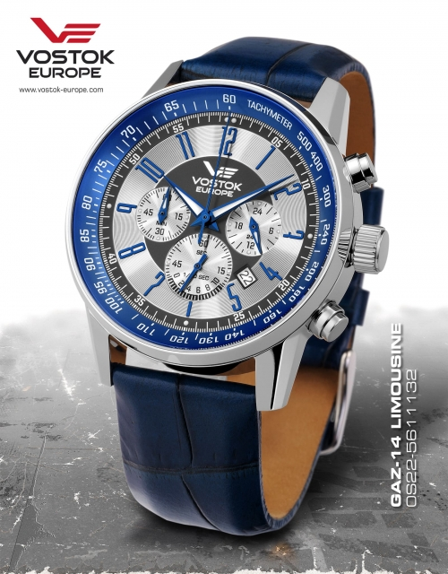 Vostok Europe GAZ 14 Chronograph Quartz 0S22-5611132