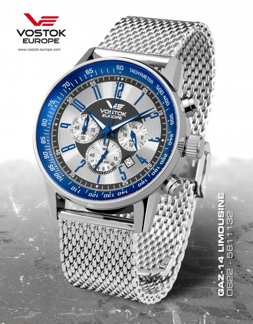 Vostok Europe GAZ 14 Chronograph Quartz 0S22-5611132-B