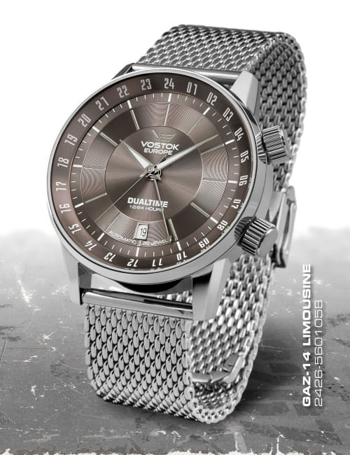 Vostok Europe GAZ 14 Automatic Dual Time 2426-5601058-B