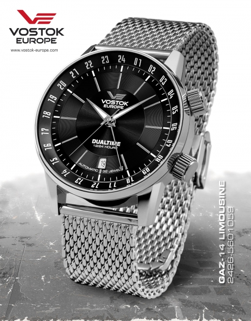 Vostok Europe GAZ 14 Automatic Dual Time 2426-5601059-B
