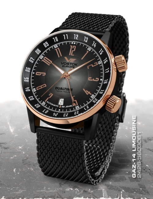 Vostok Europe GAZ 14 Automatic Dual Time 2426-5603061-B