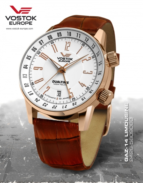 Vostok Europe GAZ 14 Automatic Dual Time 2426-5609060