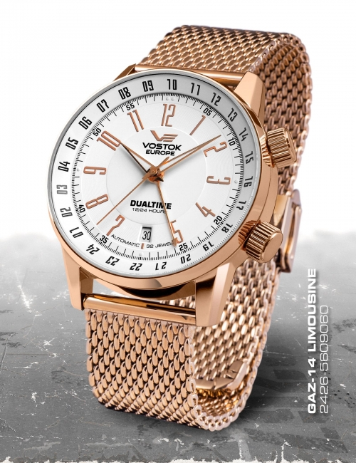 Vostok Europe GAZ 14 Automatic Dual Time 2426-5609060-B