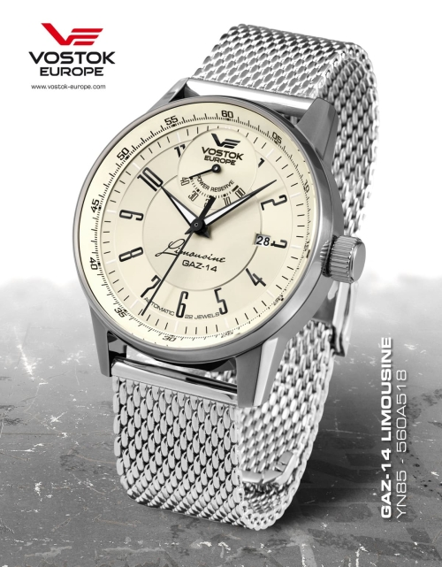Vostok Europe GAZ 14 Automatic Power Reserve YN85-560A518-B