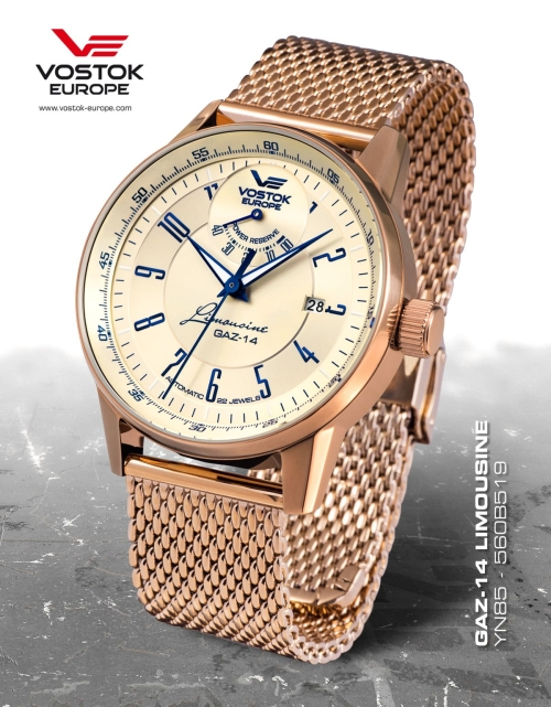 Vostok Europe GAZ 14 Automatic Power Reserve YN85-560B519-B
