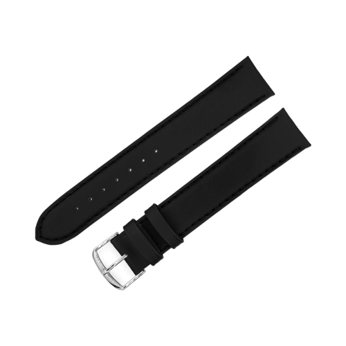 Beco universal XL leather strap / 20 mm / black / polished buckle