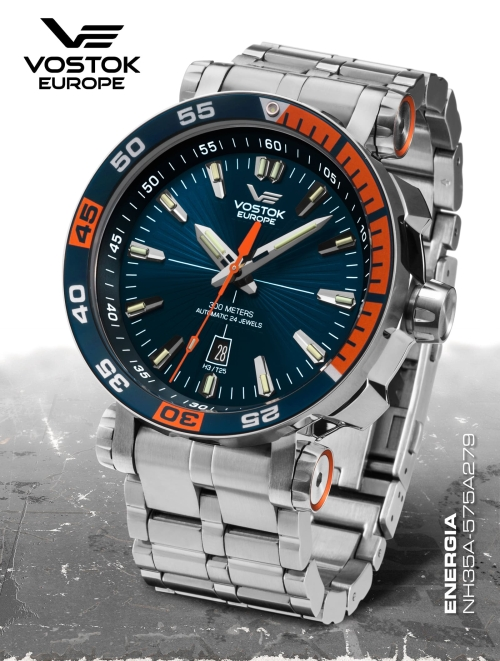 Vostok Europe Energia Rocket St. Steel Automatic NH35A-575A279b