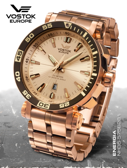 Vostok Europe Energia Rocket St. Steel Automatic NH35A-575B281b