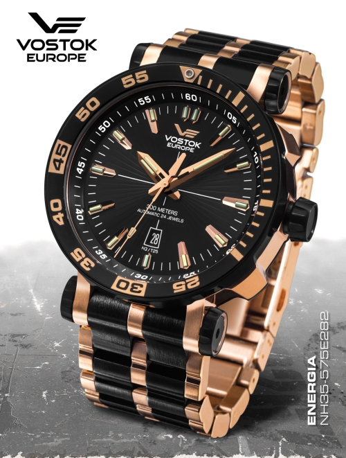 Vostok Europe Energia Rocket St. Steel Automatic NH35A-575E282b