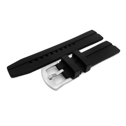 Vostok Europe Almaz silicone strap / 22 mm / black / mat buckle