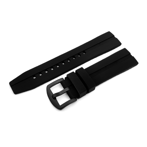 Vostok Europe Almaz silicone strap / 22 mm / black / black buckle