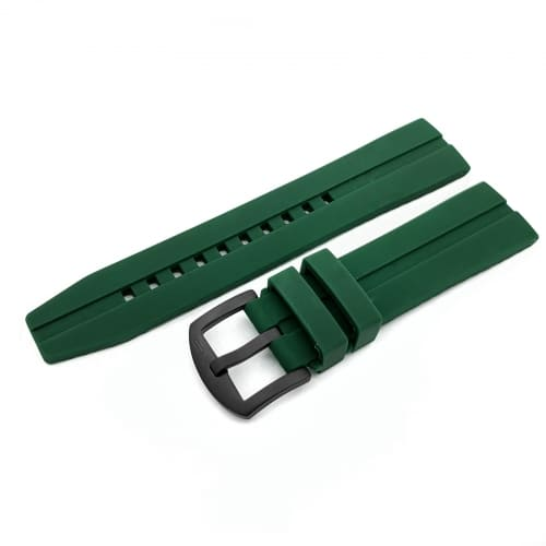 Vostok Europe Almaz silicone strap / 22 mm / green / black buckle
