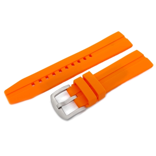 Vostok Europe Almaz silicone strap / 22 mm / orange / mat buckle
