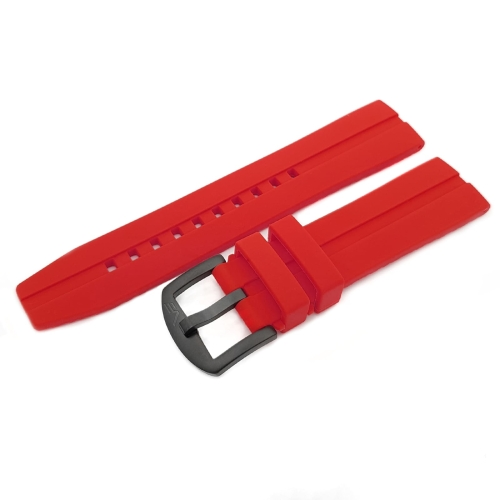 Vostok Europe Almaz silicone strap / 22 mm / red / black buckle
