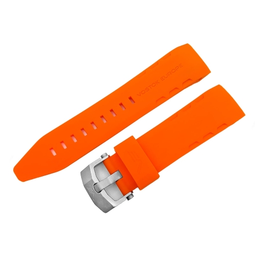 Vostok Europe Lunokhod 2 silicon strap / 25 mm / orange / matt buckle