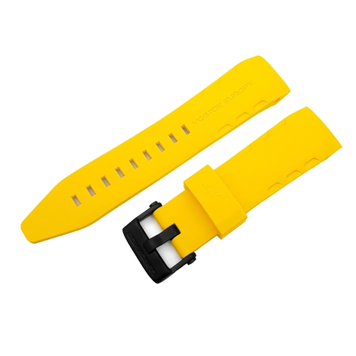 Vostok Europe Lunokhod 2 silicon strap / 25 mm / yellow / black buckle