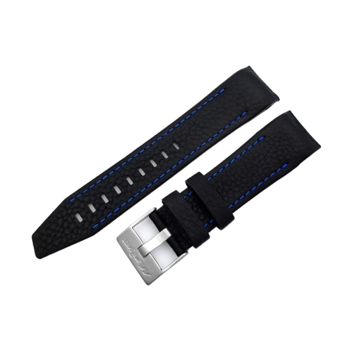 Vostok Europe Mriya 2 leather strap / 24 mm / black / blue / matt buckle