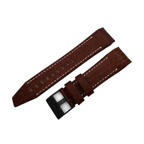 Vostok Europe Mriya 2 leather strap / 24 mm / brown / white / black buckle