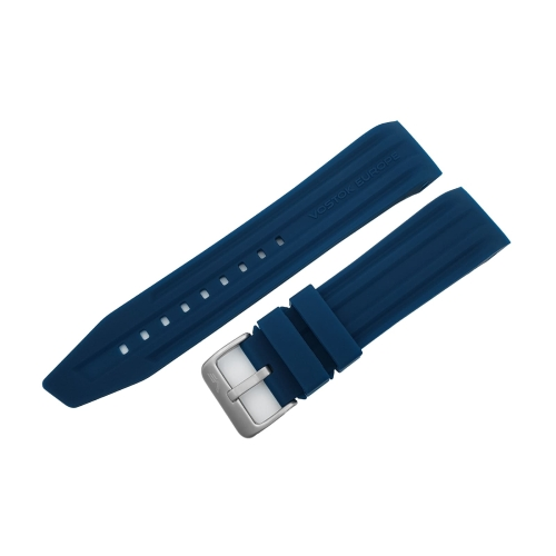 Vostok Europe Mriya 2 silicon strap / 24 mm / blue / matt buckle