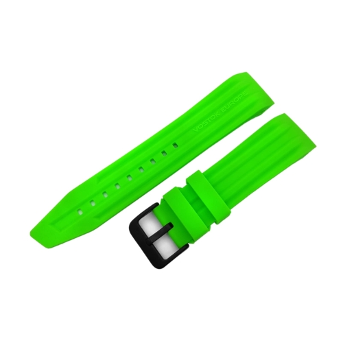 Vostok Europe Mriya 2 silicon strap / 24 mm / green / black buckle