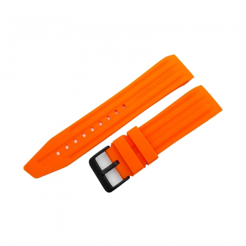 Vostok Europe Mriya 2 silicon strap / 24 mm / orange / black buckle