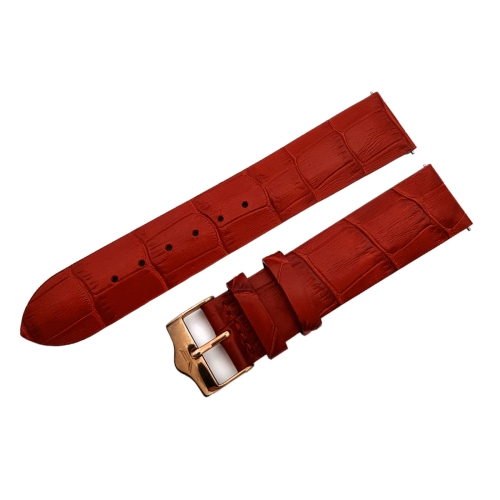 Vostok Europe Ladies N1 leather strap / 20 mm / red / rose buckle