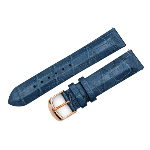 Vostok Europe Undine strap / 20 mm / blue / rose buckle