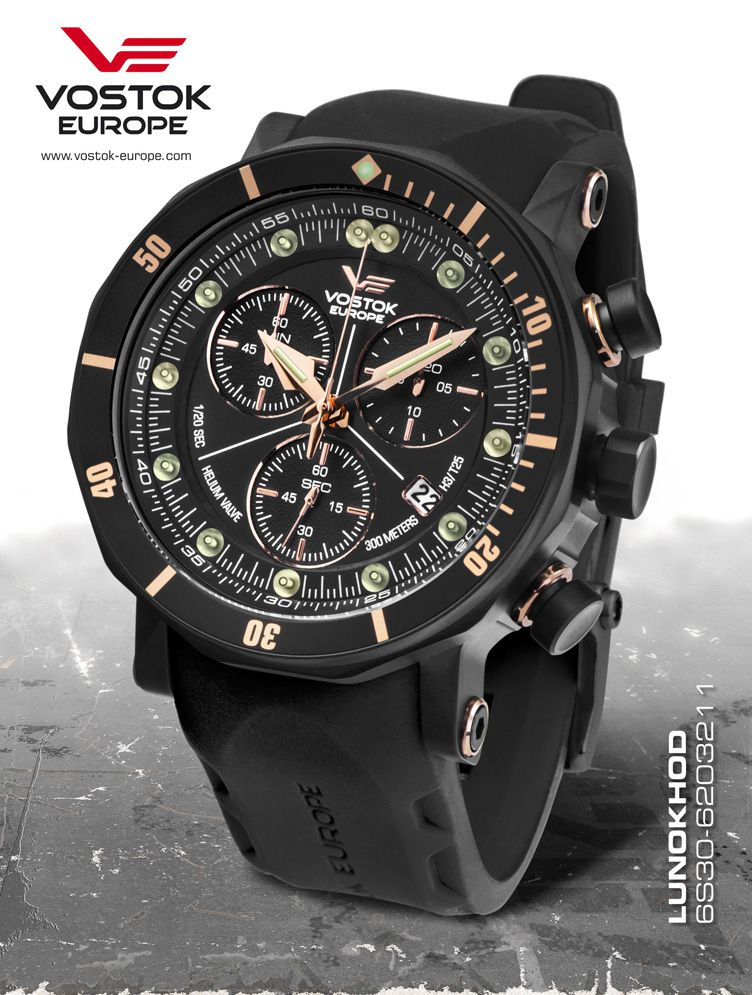 Vostok europe lunokhod 2 grand chrono 6s30 6203211 p maier watches shop for Vostok europe watches