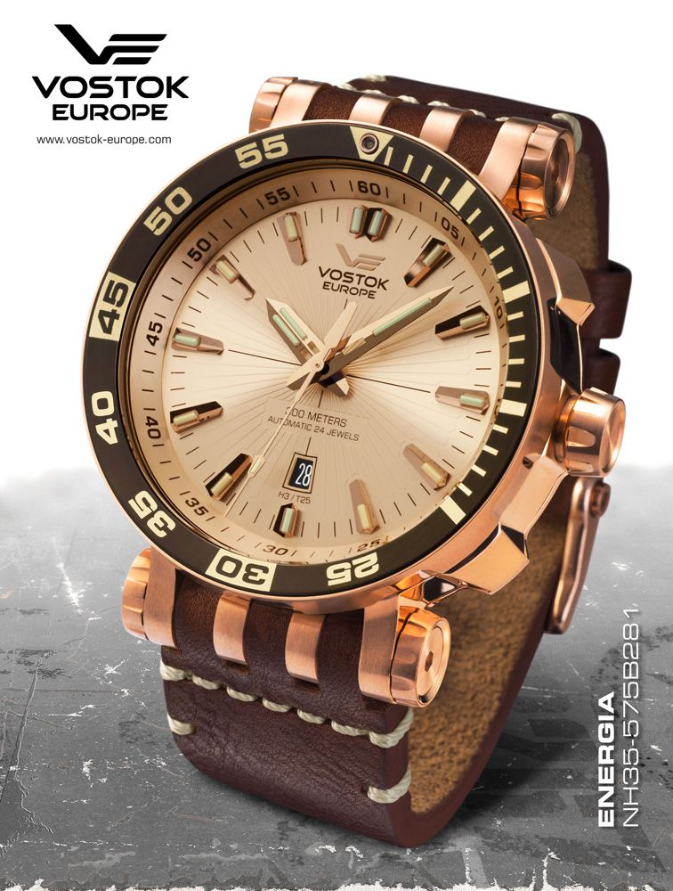 Vostok Europe Energia Rocket St. Steel Automatic NH35A ...