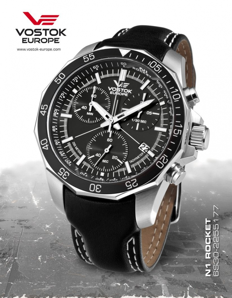 Vostok europe rocket n1 chronograph quartz 6s30 2255177b p maier watches shop for Vostok europe watches