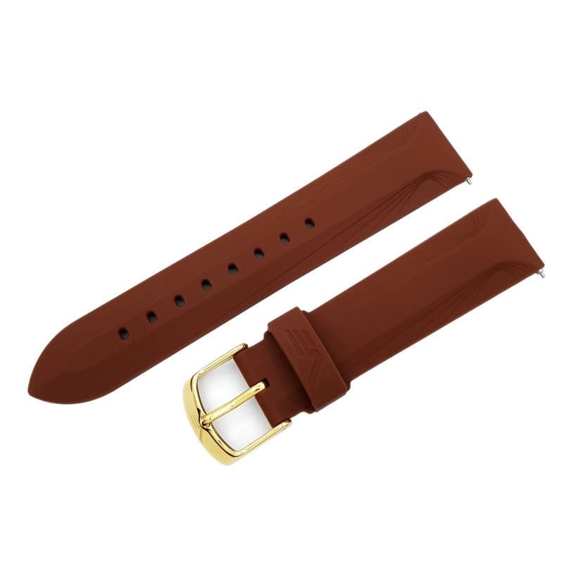 Vostok Europe Undine strap / 20 mm / brown / yellow buckle