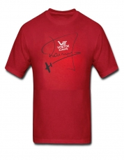 "Vostok Europe T-Shirt ""Jurgis Kairys"" red"