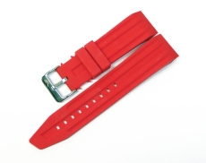 Vostok Europe Mriya silicon strap 24 mm red, Buckle st. steel ZUB 030-S-9